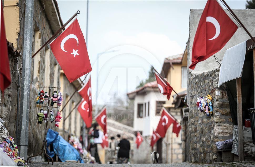 Турецкие флаги на зданиях